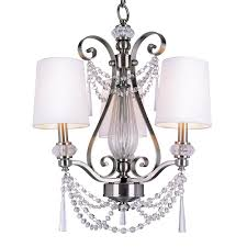 bel air lighting stewart 3 light brushed nickel chandelier with white fabric shades