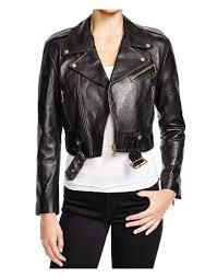 cropped black leather jacket womens cropped leather jacket
