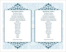 Wedding Ceremony Program Cover 67 Wedding Program Template Free Word Pdf Psd Documents
