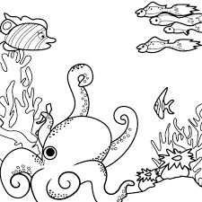 Sea Monsters Coloring Page Contest Round