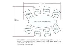 8 person round table size dining dimensions for awesome seat conference
