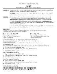 Internship Resume Template Free Download Intern Functional Templates
