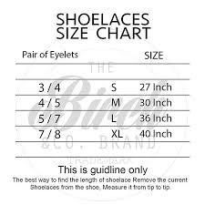 Shoelace Width Chart Birchs 7 32 Inch Flat Thin Premium Waxed Cotton Shoelaces For Dress Boot And Athletic Shoes
