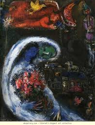 marc chagall bride with blue face olga s gallery