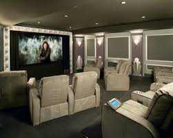 home theater art. art deco high end home theater front view
