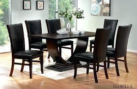 black wood dining table dark