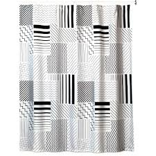 creative bath modern angles 72 in x 72 in black white grey polyester shower curtain s1226bw the home depot