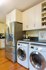 load modern beach. Washer Dryer In Kitchen Ideas Beach Style With Laundry Area Shaker Cabinets Front Loading Load Modern