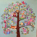 Дерево счастья раскраска