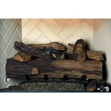 24 in appalachian oak vented natural gas fireplace log