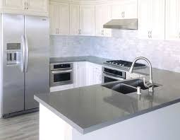 grey quartz countertops gorgeous kitchen white cabinets with dark