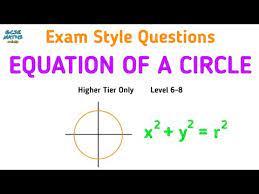 equation of a circle gcse maths exam