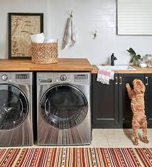 washer dryer countertop laundry build countertop over