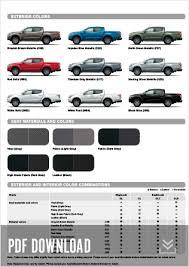 Mitsubishi Color Code Chart Specifications L200 Triton Mitsubishi Motors