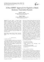 to hindi sentence translation system