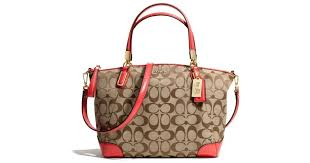 Lyst - Coach Madison Small Kelsey Satchel in Signature Fabric in Natural
