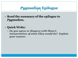 pyg on act iv objective ppt  14 pyg on epilogue the summary