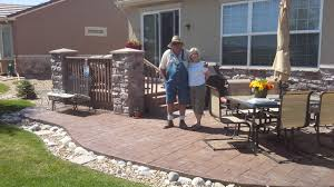 Stamped Concrete Patio Landscaping Don King Landscaping Inexpensive