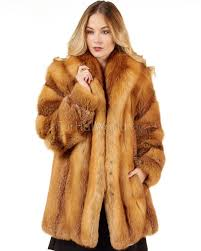 women s josephine red fox fur stroller coat