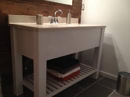 rustic white bathroom vanities. Brilliant Rustic Open Shelf Bath Vanity  Sink Cabinet Modern Slatted Rustic White Inside Rustic White Bathroom Vanities
