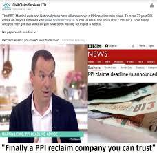fake civil claim services ad