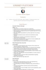 Assistant Property Manager Resume Samples Basic Impression And