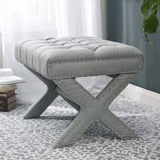 grey upholstered vanity stool ideas