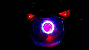 Bajaj Pulsar 150 Modified Pink Angel Eyes Headlight Modified Pulsar 150