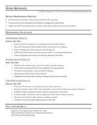 Sample Wait Staff Resume Hostess Resume Samples With Sample Wait