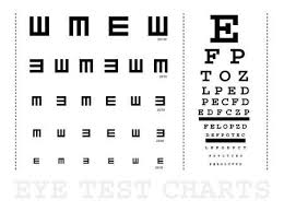 E Chart Test Snellen Eye Test Charts For Children And Adults