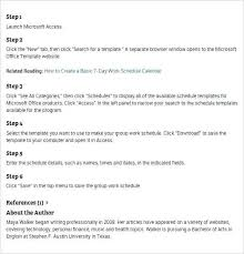 Ms Access Schedule Template Event Planning Excel Calendar Templates