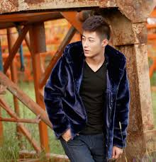 fall mens faux fur coat hood motorcycle hooded leather jacket men winter mink coats casual