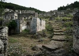 the ghost village of kayakoy, abandoned during a population swap Kayakoy Turkey Map Kayakoy Turkey Map #48 Oldest Church in Turkey