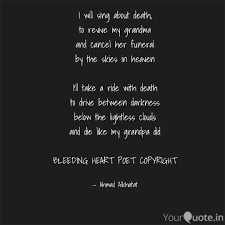 I Will Sing About Death Quotes Writings By Ahmad Alkhatat