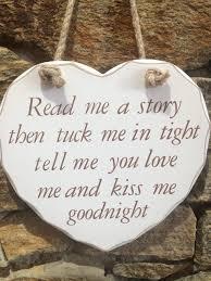read me a story wooden heart hanger