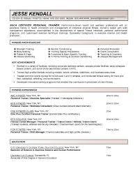 Sample Resume For Gym Instructor