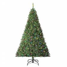 trim a home 6 multicolor pre lit boulder mountain pine tree