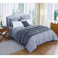st james home microfiber dark gray twin comforter and velvet blanket