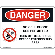 No Cell Phone Sign Printable File Sign And Label Danger No Cell Phone Use Permitted