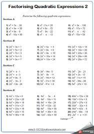 gcse maths factorising quadratic