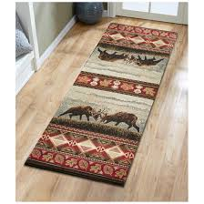 united weavers great northwest area rug wildlife design with deer and leaves