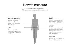 Vero Moda Size Chart Vero Moda Size Guide M Co