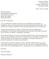Cover Letter To University Internship Cover Letter Examples Cover Letter Now