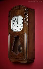 antique wall clocks art deco