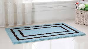 bathroom bathroom extra long bath mat plush rugs colorful oversized top perfect bath shower blue