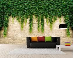<b>3d room wallpaper custom</b> photo mural Vine brick wall home decor