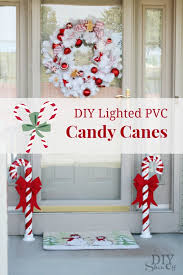 How To Decorate A Candy Cane For Christmas Lighted PVC Candy Canes DIY Christmas Home Decor DIY Show Off 12