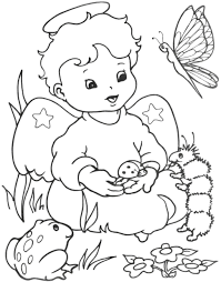 Dessins Colorier Anges Coloriages Pour Enfants