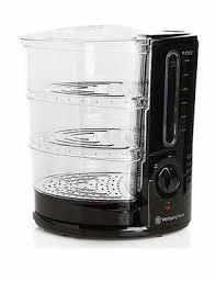 new in box wolfgang puck rapid 3 tier food steamer 1400 watt berfs010