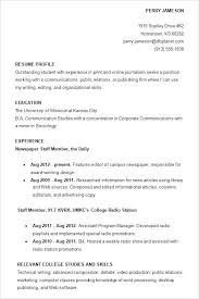 Example Student Resume Interesting Example Of Resume After College As Well As College Student Resume